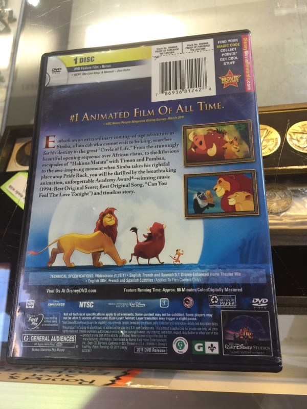 DVD MOVIE DVD THE LION KING