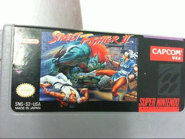 SUPER NINTENDO GAME STREET FIGHTER II