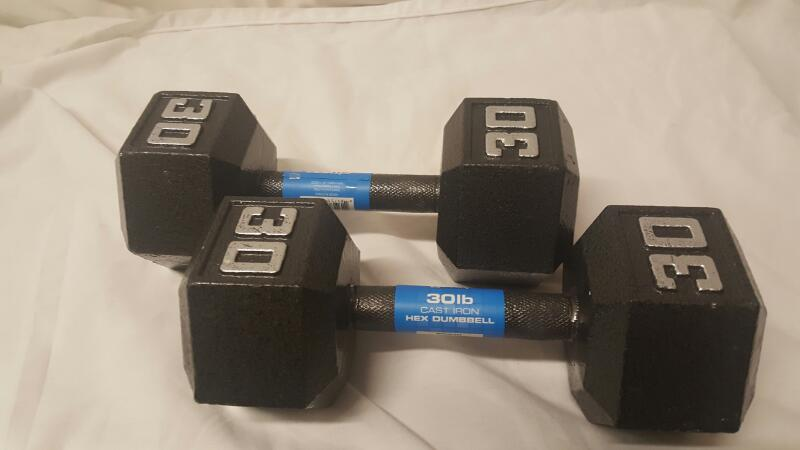 Exercise Equipment 30 LBS DUMBELLS