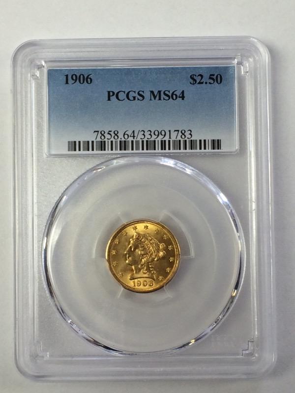 1906 Liberty Head Gold Quarter Eagle - $2.50