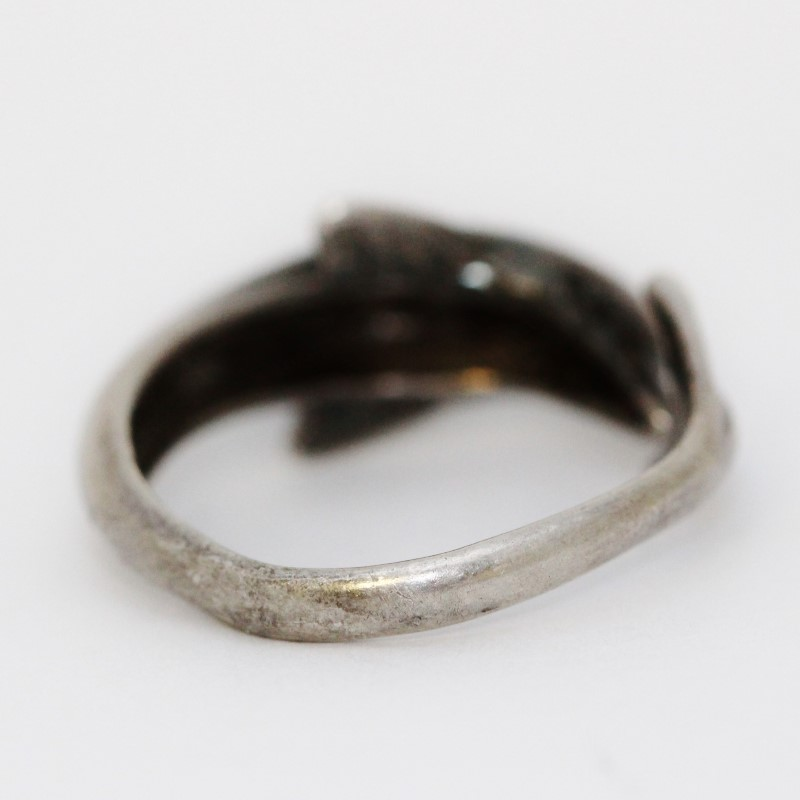 Sterling Silver Bottlenose Dolphin Wrap Around Ring Size 10.5