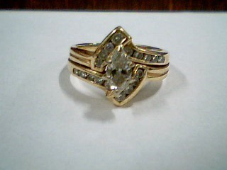 Lady's Diamond Wedding Set 19 Diamonds .61 Carat T.W. 14K Yellow Gold 4.09g