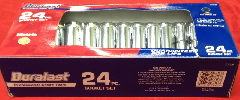 DURALAST Sockets/Ratchet SOCKET SET