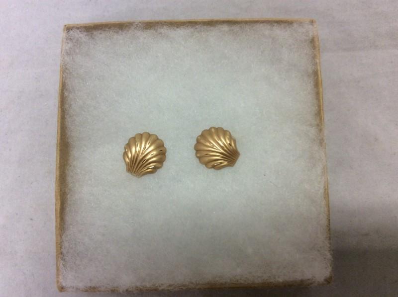 Gold Earrings 14K Yellow Gold 1.35g