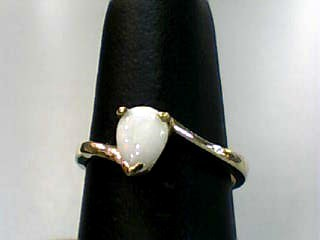 Opal Lady's Stone Ring 10K Yellow Gold 1.4dwt Size:6.3