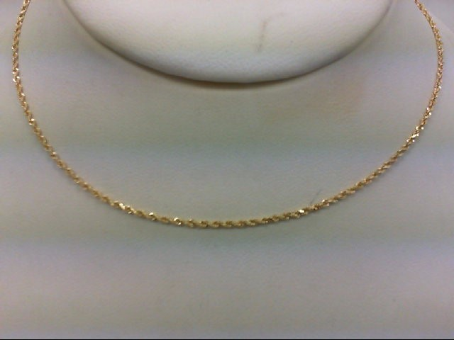 """24"""" Gold Rope Chain 14K Yellow Gold 4g"""