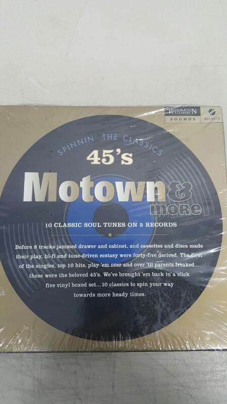 Restoration Hardware RH-9172, 45 rpm MOTOWN 5 record box set - Gaye, Brown, Ross