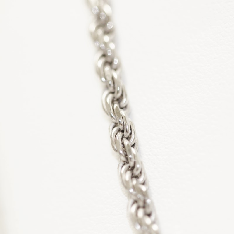 "36"" Unisex Sterling Silver Rope Chain"