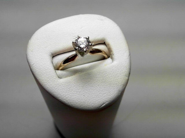 Lady's Diamond Solitaire Ring .50 CT. 14K Yellow Gold 1.9g