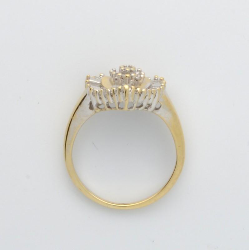 ESTATE HEART DIAMOND CLUSTER RING SOLID 10K GOLD LOVE PROMISE SZ 6.5