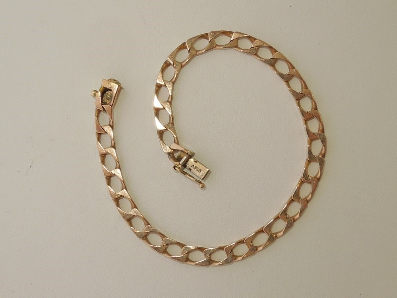 Gold Link Bracelet 9K Yellow Gold 9.6g