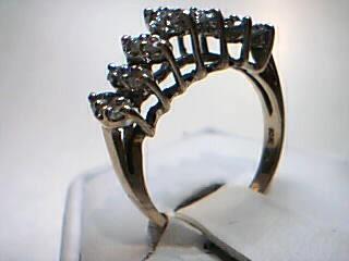 Lady's Diamond Cluster Ring 21 Diamonds 1.19 Carat T.W. 10K Yellow Gold 3.4g