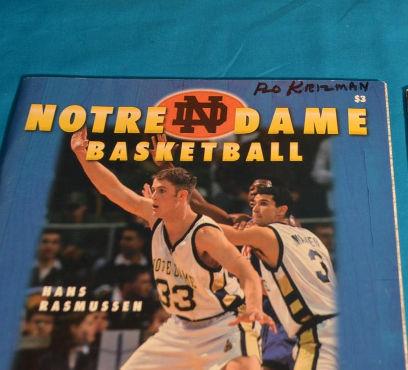 Lot of 12 Notre Dame Basketball Program Magazines