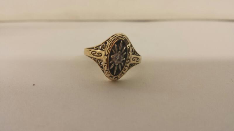 Lds 10K-Y/G Jostens 10 Year Ring 1 Diamond