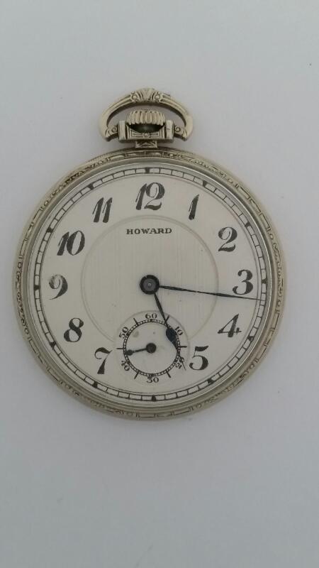 E. HOWARD WATCH CO. 17 J POCKET WATCH BOSTON U.S.A. KEYSTONE EXTRA