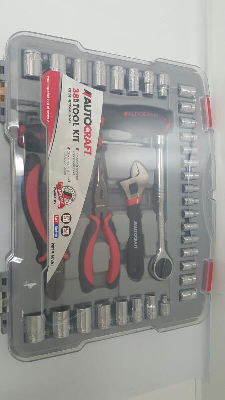 Autocraft AC 261 38pc Metric/SAE General Tool Kit