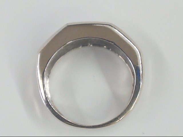 7.3mm DIAMOND 0.48 TCW WEDDING RING BAND 14K WHITE GOLD 4.9g SZ 6.25