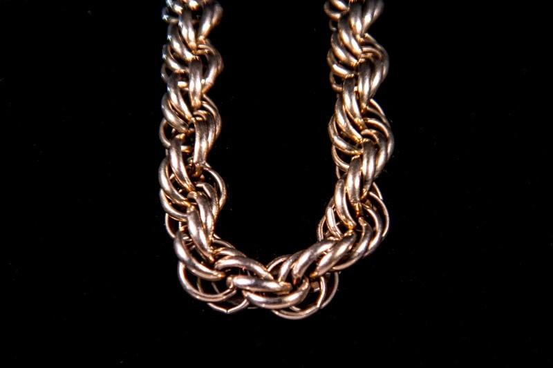 Gold Chain Bracelet 10K Yellow Gold 22g