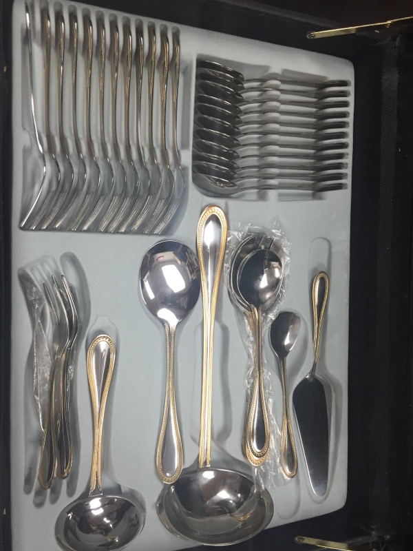 STERLINGWARE Flatware SURGICAL STAINLESS STEEL 20PC FLATWARE SET WITH GO