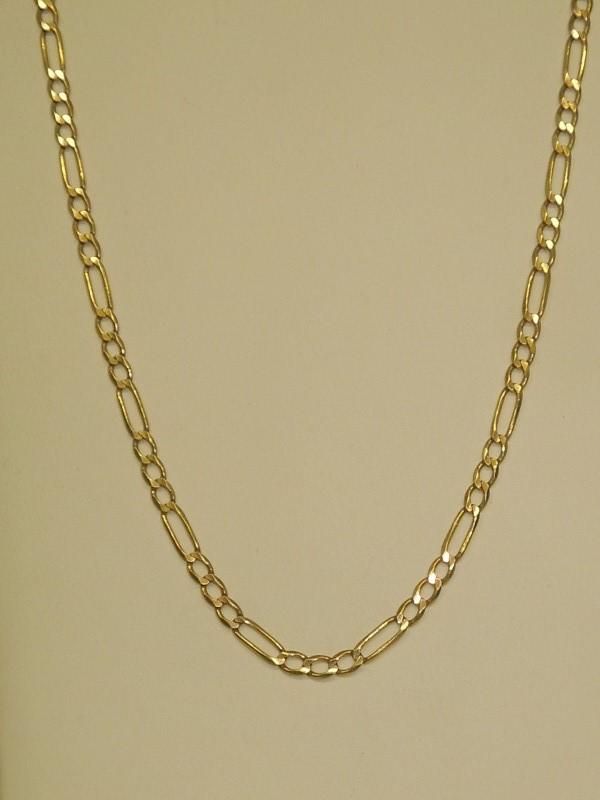"""24"""" Gold Figaro Chain 10K Yellow Gold 7.1g"""