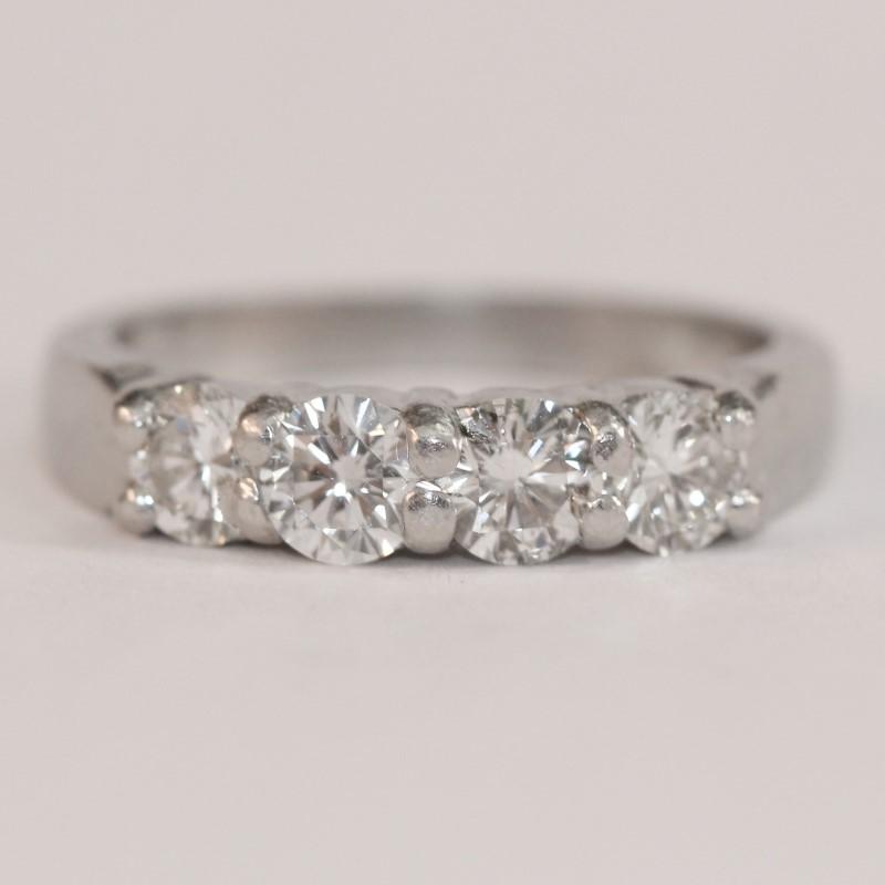 Platinum Brilliant Diamond Wedding Band Size 5