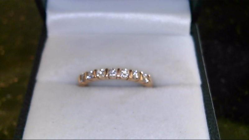 lady's new 14k rose gold diamond band