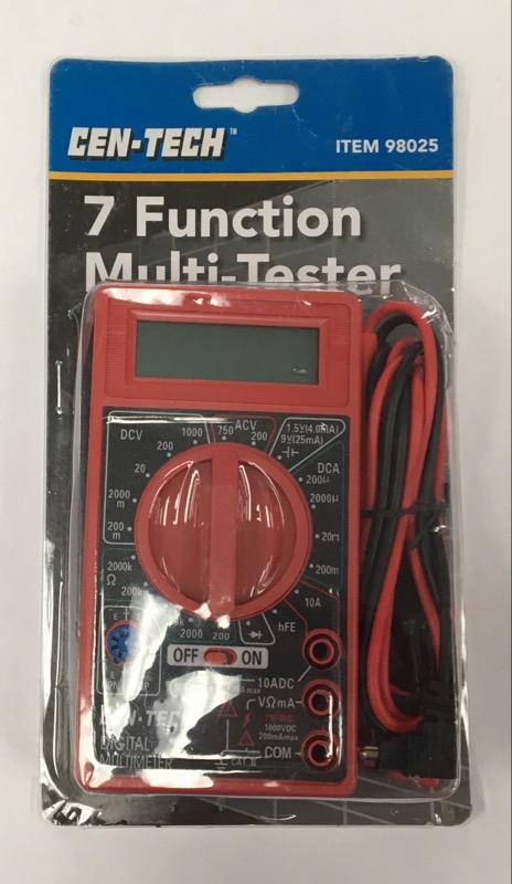 *NEW* Cen-Tech 7 Function Digital Multimeter w/ Leads