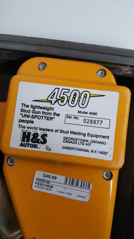 H&S Uni-Spotter Auto Shot Stud Gun Welder Model 4500 (4590)