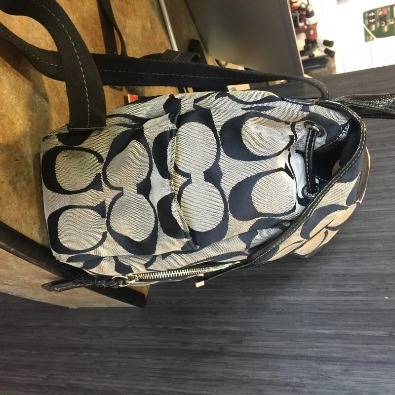COACH Backpack KHAKI JACQUARD BACKPACK