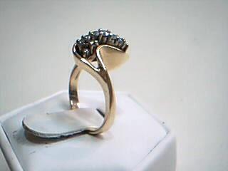 Lady's Diamond Cluster Ring 12 Diamonds .40 Carat T.W. 14K Yellow Gold 5.7g
