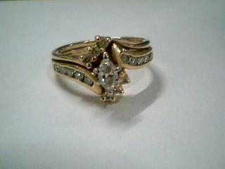 Lady's Diamond Wedding Band 17 Diamonds .73 Carat T.W. 14K Yellow Gold 4.3g