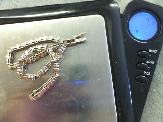 Gold-Diamond Bracelet 84 Diamonds .84 Carat T.W. 14K Yellow Gold 7.7g