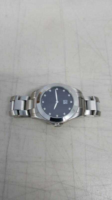 ESQ by Movado Mens Aston Diamond Stainless Steel Silver Tone Watch E5458