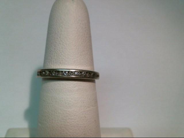 Lady's Diamond Wedding Band 12 Diamonds .12 Carat T.W. 10K White Gold 1.7g