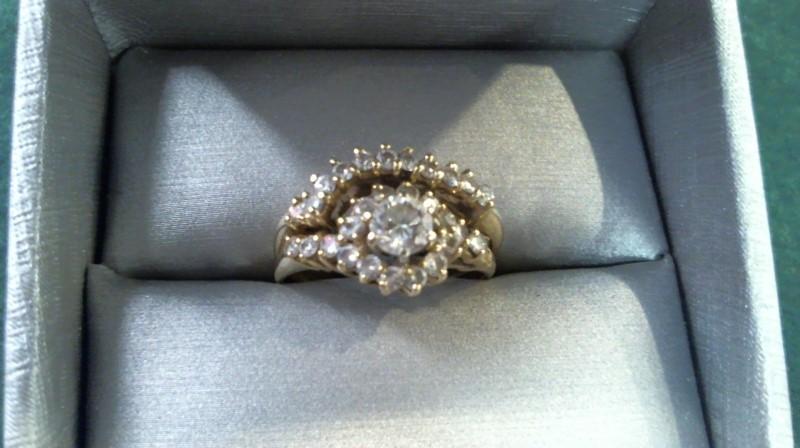 Lady's Diamond Wedding Set 29 Diamonds .58 Carat T.W. 14K Yellow Gold 4.7g