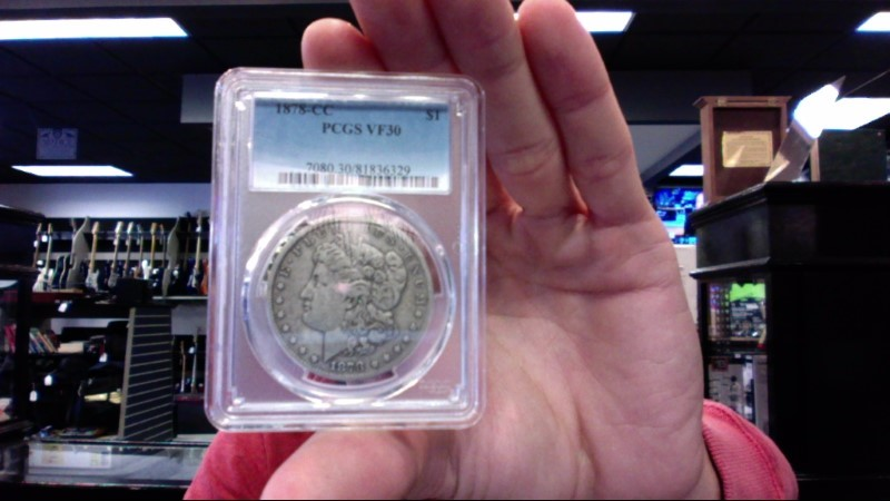 UNITED STATES Silver Coin 1878 CC - SILVER DOLLAR