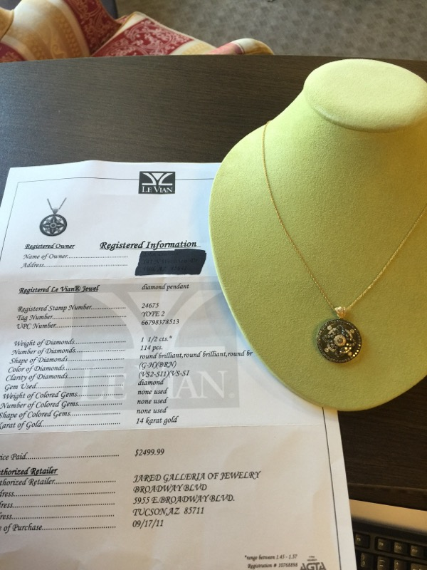 "18"" Diamond Necklace 103 Diamonds 1.68 Carat T.W. 14K Yellow Gold 8.1g"