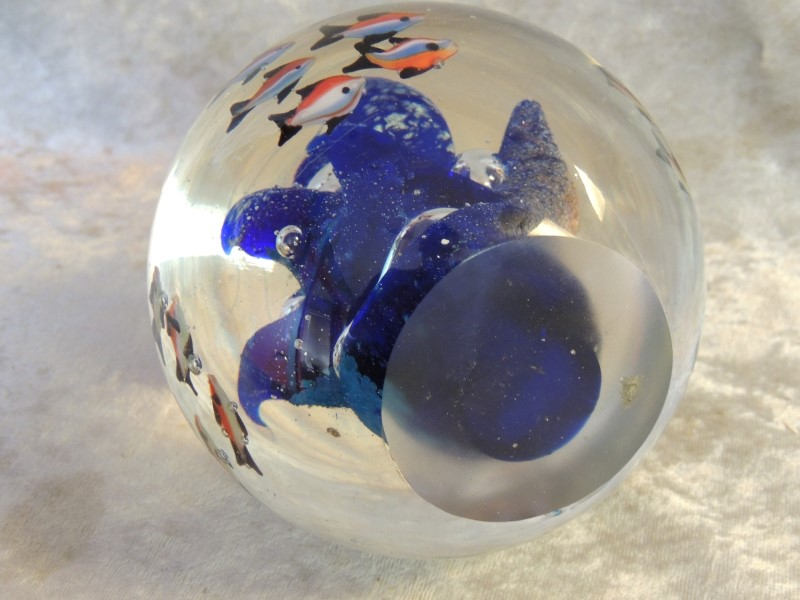 MID CENTURY MODERN MURANO Style Glass FISH Sculpture AQUARIUM PAPERWEIGHT
