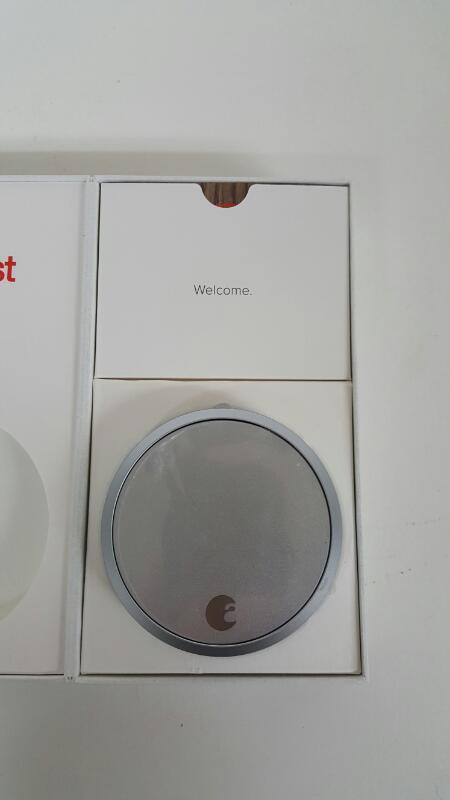 August Smart Lock Keyless Home Entry Apple HomeKit - Silver