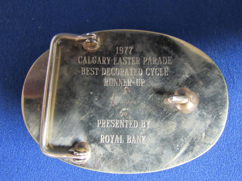 1977 SILVER/GOLD BELT BUCKLE
