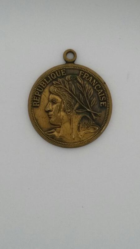 $1 REPUBLIQUE FRANCAISE LIBERTY HEAD LOVE TOKEN, PRODUCT OF FRANCE