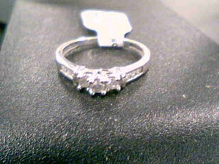 Lady's Diamond Fashion Ring 9 Diamonds .33 Carat T.W. 10K White Gold 2.1g