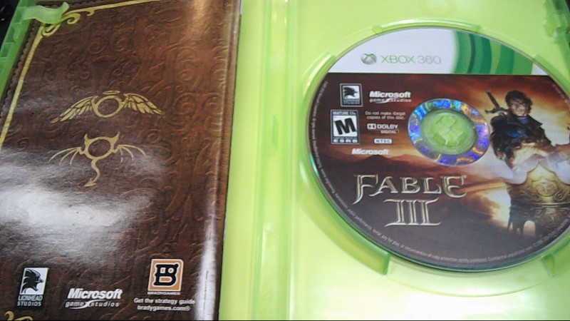 Microsoft XBOX 360 Game FABLE III - XBOX ONE COMPATIBLE