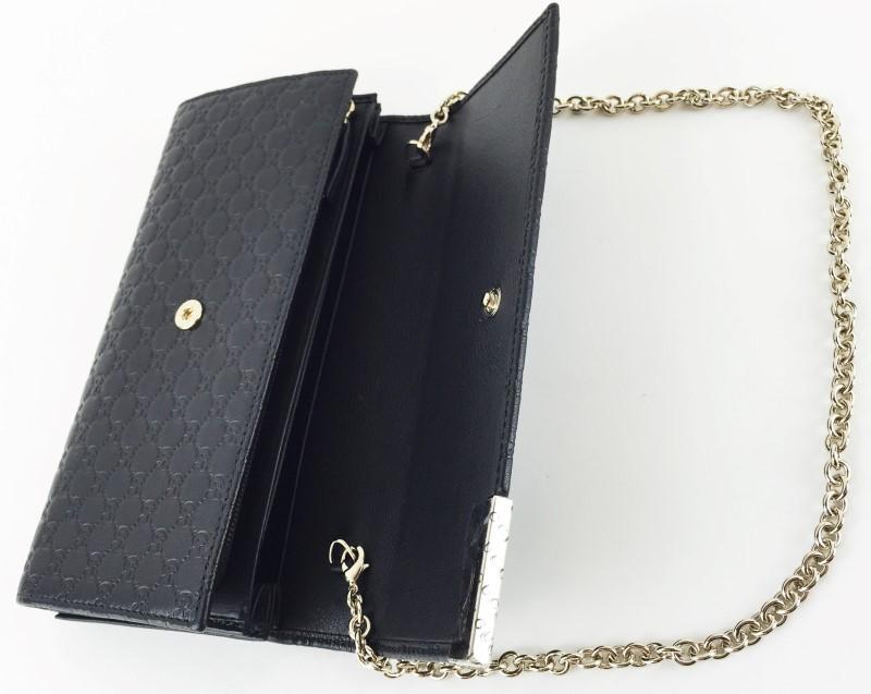 GUCCI Handbag GUCCI MICROGUCCISSIMA LEATHER CHAIN WALLET