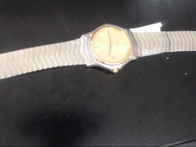 EBEL 184909 GOLD/SILVER WATCH PLATED   WATCH 18KST SIL MN