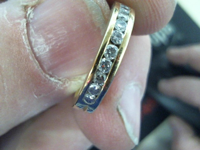 Lady's Diamond Wedding Band 10 Diamonds .50 Carat T.W. 18K Yellow Gold 5.2g