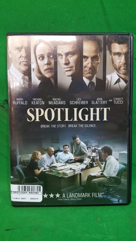Spotlight (DVD, 2016), Mark Ruffalo, Michael Keaton, Rachel McAdams, Liev Schrei