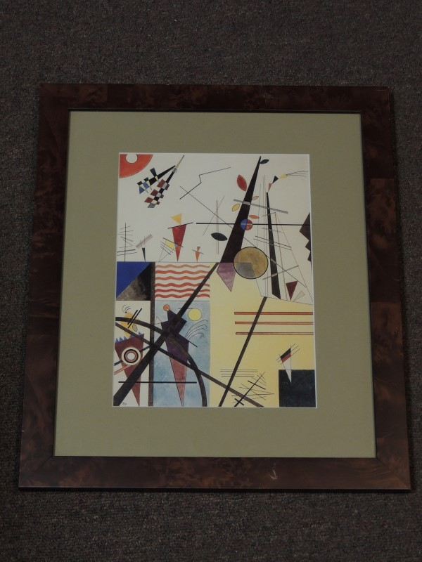 "ABSTRACT SUPREMATISM FRAMED PRINT 16.5""H x 14""W"