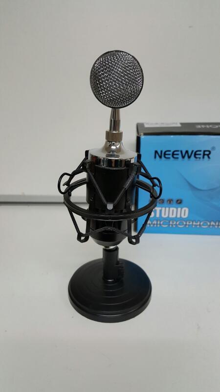 Neewer Black NW-1500 Desktop Broadcast & Recording Condenser Microphone Kit