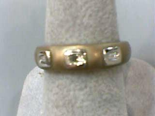 Lady's Diamond Wedding Band 3 Diamonds .06 Carat T.W. 14K Yellow Gold 2.7dwt